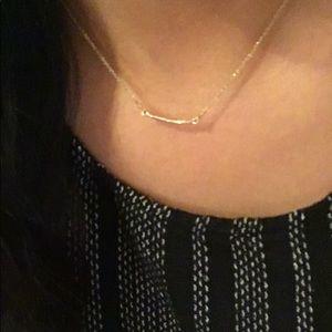 Gold Dogeared Balance necklace
